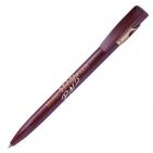 KIKI FROST GOLD, ручка шариковая, бордо/золотистый, пластик