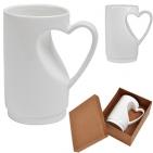 """Кружка """"Сердце"""" в подарочной упаковке, D=7,5см,H=12,5см,300мл,фарфор"""