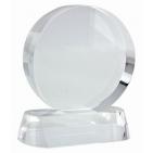"""Стела """"Круг""""; прозрачный; 8,9х3,9х10 см; D=8 см; стекло; лазерная гравировка"""