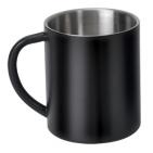 Кружка; D=7,8 см; H=9 см; 300 мл; черный; металл; лазерная гравировка