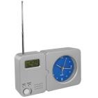 Радио с часами; 15,8х9,3х4см; пластик; тампопечать