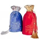 Мешочек для подарков с кисточками «Счастливого нового года», красный