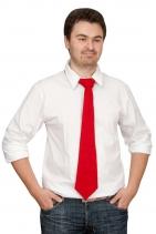 Вязаный галстук DEEP, красный