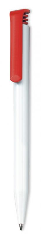 Ручка шариковая Super Hit, белая с красным