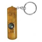 Брелок-фонарик со свистком и компасом; желтый; 6,3х2,1х0,8 см; пластик; тампопечать