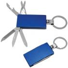 Нож-брелок многофункциональный (5 функций); синий; 5,5х3,2х0,8 см; металл; лазерная гравировка