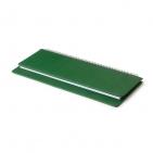 Планинг недатированный, Velvet, зеленый, 305х130 мм, белый блок, открытый гребень