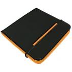 "CD-холдер ""New Style"" 24 диска; черный/оранжевый; 15,8x15,8x1,5 см; полиэстер, микрофибра; шелкогр"