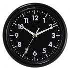 """Часы настенные """"PRINT"""" разборные ;  черный, D24,5 см; пластик/стекло"""