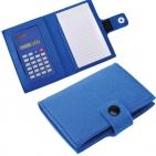 """Блокнот с калькулятором """"Soft"""",синий,11х14х2см, фетр"""