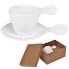"""Чайная пара """"Бесконечность"""" в подарочной упаковке, 19,3х12,2х9,8см,180мл,фарфор"""