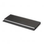 Планинг недатированный, Velvet, черный, 305х130 мм, белый блок, открытый гребень