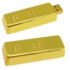 """USB flash-карта """"Золотой слиток"""" (8Gb); 6х2,2х1,1 см; металл; лазерная гравировка"""