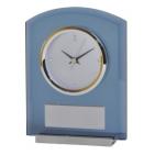 """Часы настольные """"AWARD"""" ; 13.7 x 4.8 x 17.9 см, шильд 6х3,4 см; стекло, алюминий"""