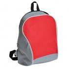 """Промо-рюкзак """"Fun""""; серый с красным; 30х38х14 см; полиэстер; шелкография"""