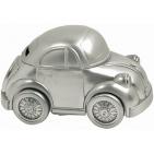 "Копилка ""Машинка""; серебристый; 12х6х6,5 см; металл; лазерная гравировка"