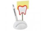 Подставка под визитки с ручкой и держателем для записок «Зуб»