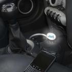 Автомобильное зарядное устройство с подсветкой Brandсharger, черное