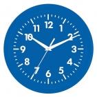 """Часы настенные """"PRINT"""" разборные ;  темно-cиний, D24,5 см; пластик/стекло"""