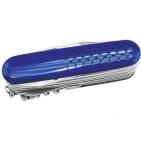 Нож многофункциональный (15 функций); синий; 9х2,8х2,9 см; металл; лазерная гравировка