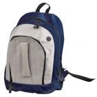 "Рюкзак ""Adventure""; синий с белым; 32х44х17 см; полиэстер; шелкография"