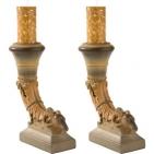 """Подарочный набор """"Каминный"""": 2 подсвечника «Империя», декоративные свечи"""