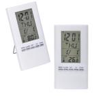 """Часы-календарь-термометр """"Монако"""",  белые,  12,5*7 см, пластик"""