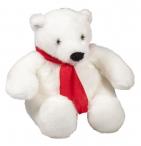 Игрушка «Белый медведь», с белым шарфом
