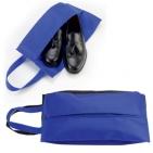 "Футляр для обуви на молнии ""HAPPY TRAVEL"", синий, нетканка , 20*42*15 см, шелкография"