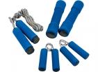 Набор для занятий фитнесом: гантели, скакалка, 2 эспандера для рук