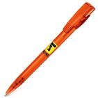KIKI FROST, ручка шариковая, фростированный оранжевый, пластик