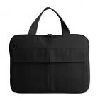 """Конференц-сумка """"Тодес"""" с отделением для ноутбука,  черный; 35х26x2,5 см; полиэстер 600D; шелко"""