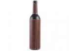 Набор аксессуаров для вина в футляре в форме бутылки: штопор-открывалка, воротничок на бутылку, пробка, устройство для аккуратного розлива вина, устройство для срезания фольги и сургуча