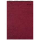 Блокнот Office, бордовый, А4, 198х285 мм, верхний гребень, белый блок, клетка, 60 листов