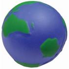 """Антистресс """"Земной шар""""; D=6,5 см; вспененный каучук; лазерная гравировка"""
