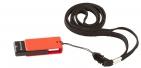 Флешка Uniscend Turn, черная с красным, 8 Гб