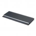Планинг датированный, Velvet, черный, 305х130 мм, белый блок, открытый гребень