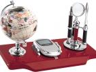 Настольный прибор «Маврикий»: глобус, часы-калькулятор, ручка, лупа, нож для бумаги
