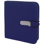 "СD-холдер ""UNION"", 24 дисков; темно-синий; 15,5х15х2 см; полиэстер; шелкография, лазер. гравировка"