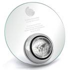 """Часы наградные """"Glory"""";  16 см, металл, стекло; лазерная гравировка"""