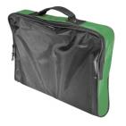 """Конференц-сумка """"Folder""""; черный с зеленым; 39,5х30х5 см; полиэстер; шелкография"""