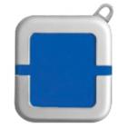 Зажигалка; синий; 4х4,4х1,1 см; металл, пластик