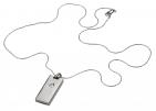 Флешка «Кулон» на 4 Гб, светлый металл