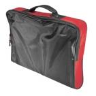 """Конференц-сумка """"Folder""""; черный с красным; 39,5х30х5 см; полиэстер; шелкография"""