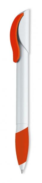 Ручка шариковая Hattrix Soft, белая с красным